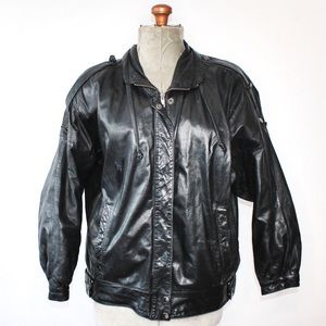 Impromptu Black Leather Jacket Size Medium